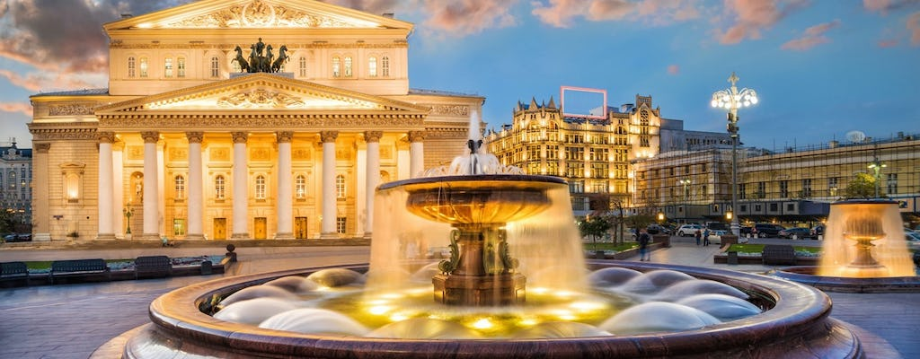 The Bolshoi theatre excursion and a walking tour of the historical streets of Moscow