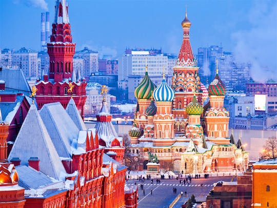 Moscow Kremlin, Red Square and metro tour with pick-up
