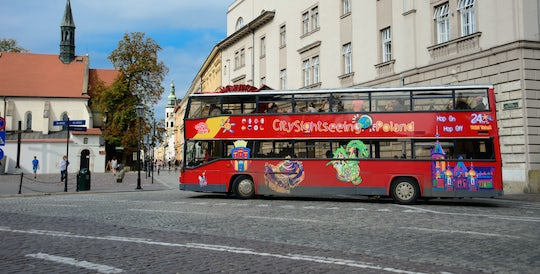 Krakow hop-on hop-off bus with optional river cruise
