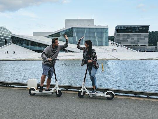 Исследуйте город Осло на электронном скутере
