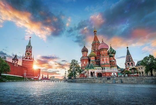 Moskou bij nacht met bezoek aan het observatiedek Panorama 360