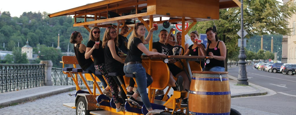 Beer Bike tour di Praga