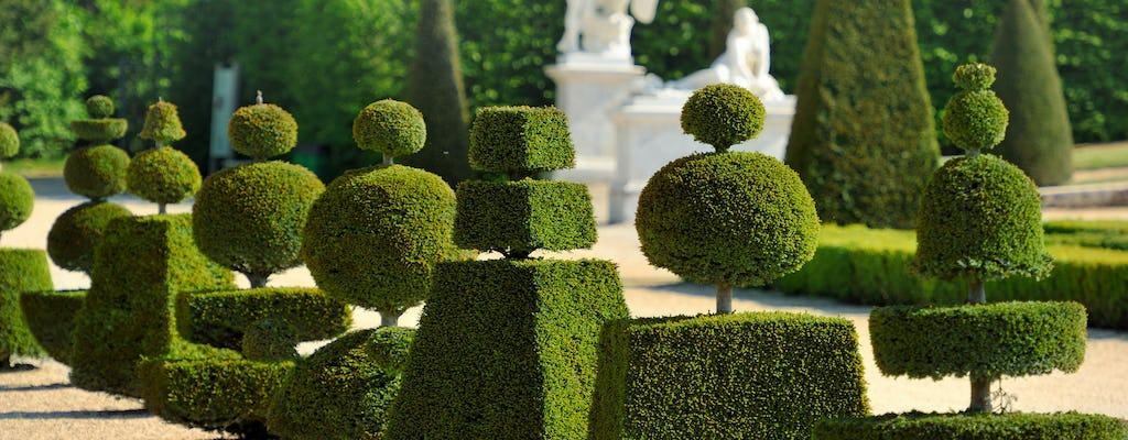 Reggia di Versailles con fontane e giardini musicali da Parigi