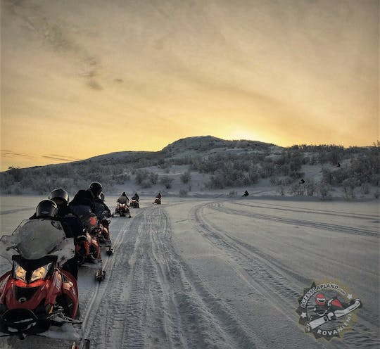 Experience the river valley on a snowmobile safari