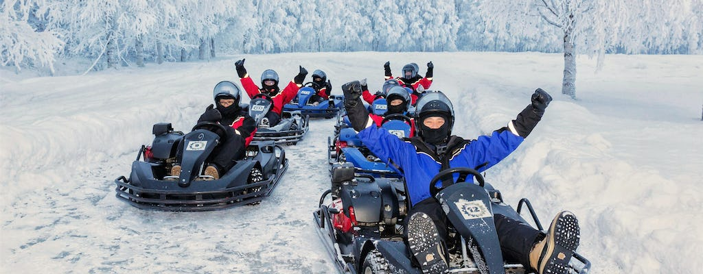 Go on a karting adventure on open ice