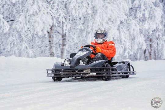 Join the ice combo tour and go karting on ice and snowmobiling