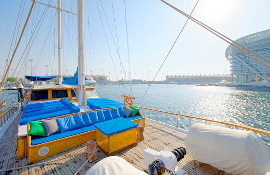 Yas Marina afternoon or sunset cruise with live BBQ
