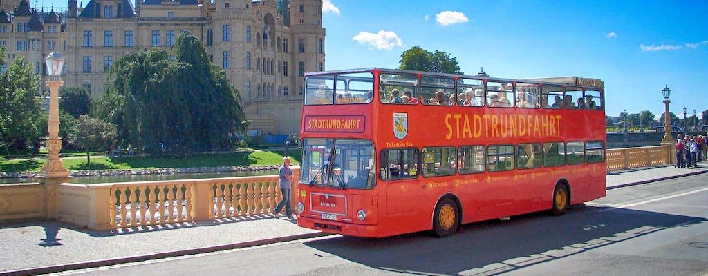 Schwerin city tour by double-decker bus