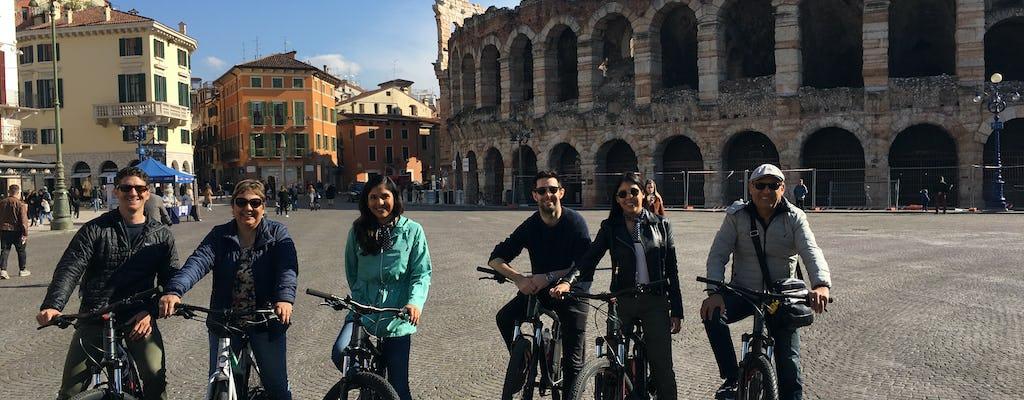 Visão panorâmica e passeio de bicicleta elétrica por Verona