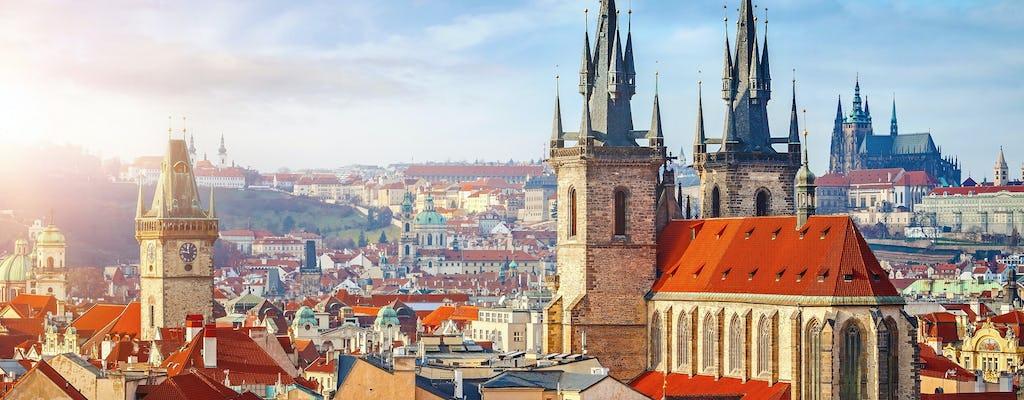 Prague met en valeur une visite à pied privée d'une demi-journée