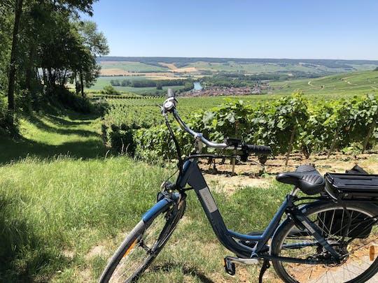 Excursão de bicicleta elétrica de dia inteiro em Champagne, incluindo 2 produtores e almoço