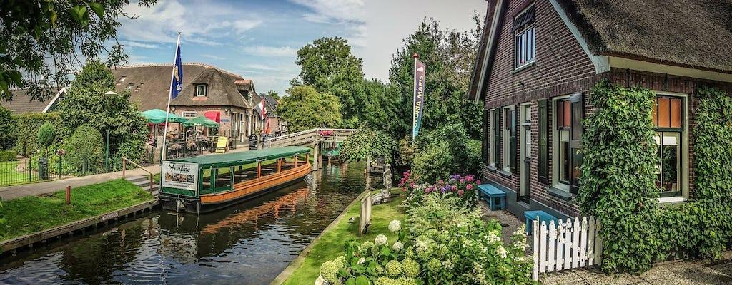 Частный транспорт в Гитхорн, ветряные мельницы Заансе-Сханс и Волендам из Амстердама