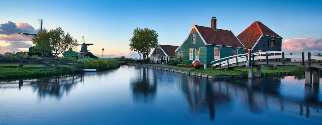 Private transport to Zaanse Schans windmills, Volendam, cheese and clogs shop from Amsterdam
