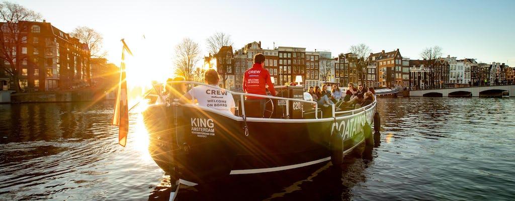 Круиз Амстердам премиум канала в открытой лодке все напитки включены
