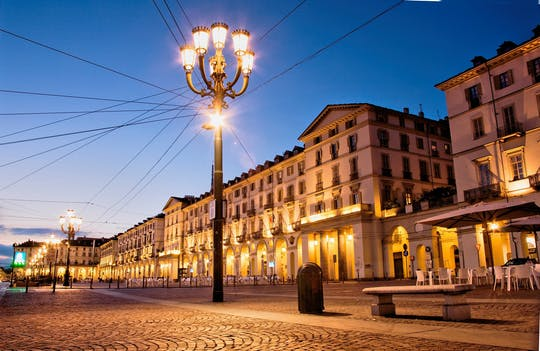 Turin by night walking experience