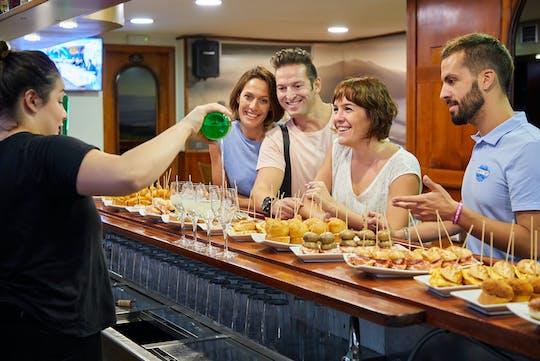 Pintxo tasting paired with Spanish wines in Bilbao
