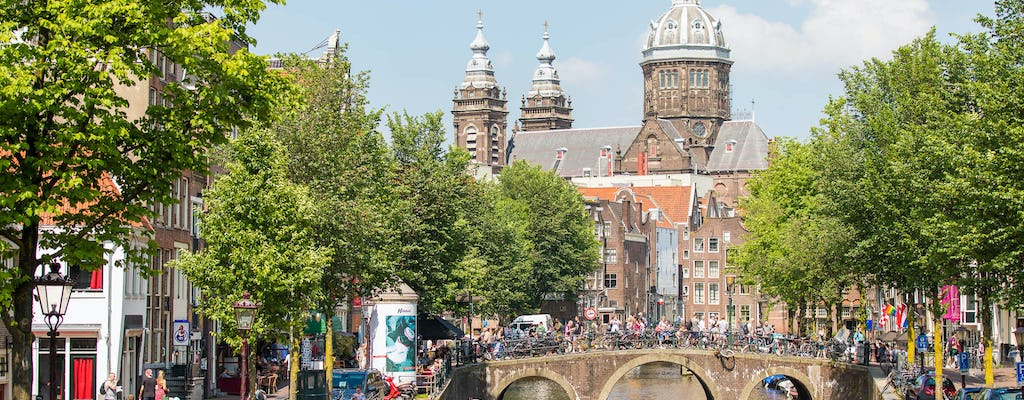 Amsterdam bus tour with live guide and canal cruise