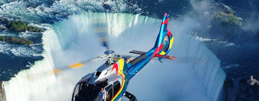 Tour privado seguro por las cataratas del Niágara con paseo en helicóptero y almuerzo en la torre Skylon