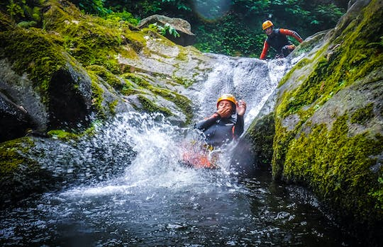 Canyoning experience in Caldeirões Natural Park