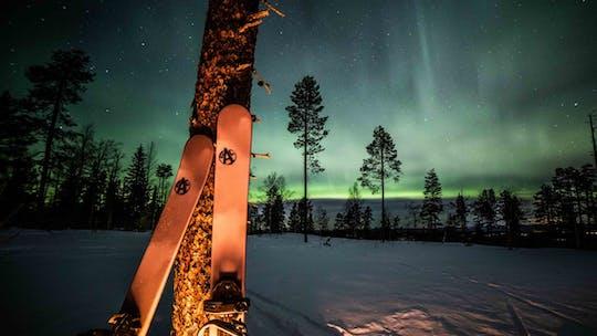 Ski under the northern lights