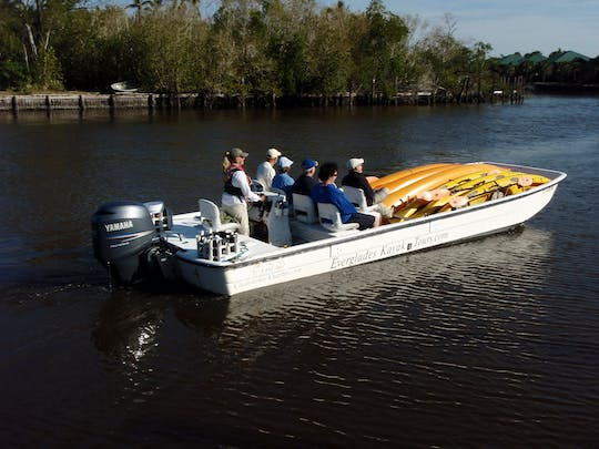 Everglades National Park boat assisted kayak eco-tour