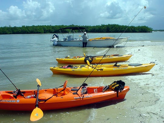 Marco Island boat assisted kayak eco-tour