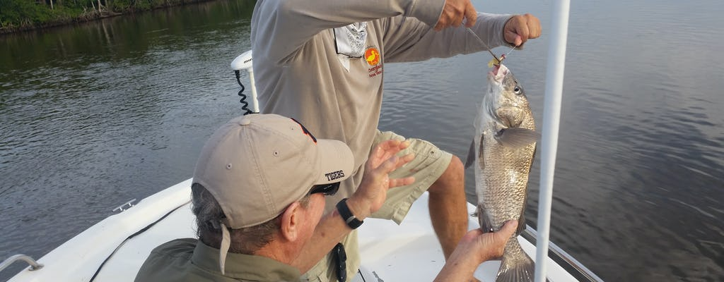 Marco Island family fishing and boating tour