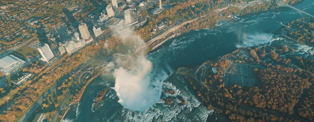 Lo mejor de Niagara Falls USA tour en helicóptero con almuerzo