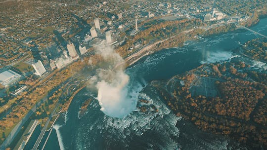 Best of Niagara Falls USA helicopter tour with lunch