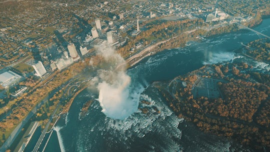 Best of Niagara Falls USA helicopter private safe tour with lunch