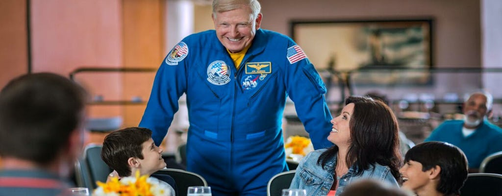 Kennedy Space Center tickets, roundtrip transportation and lunch with an astronaut