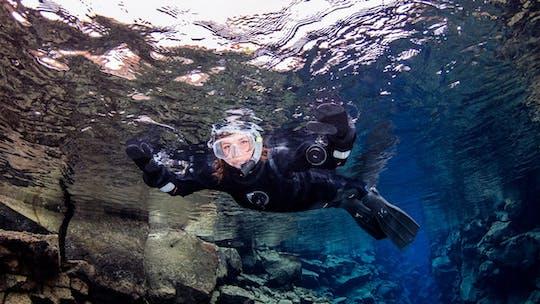 Enjoy a Silfra snorkel tour with pick-up