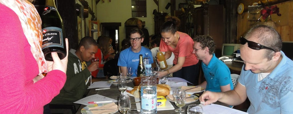 Degustação de vinhos particulares da Alsácia em La Forge