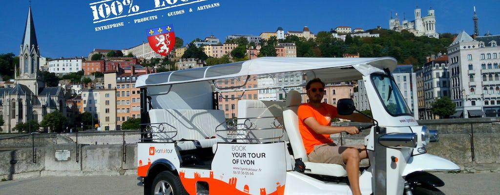 1-hour Electric Tuk-Tuk City tour in Lyon - 100% local