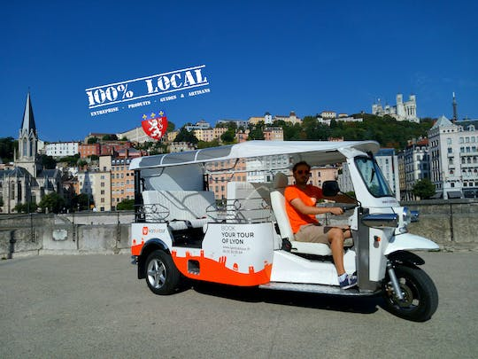 1-hour Electric Tuk-Tuk City tour in Lyon