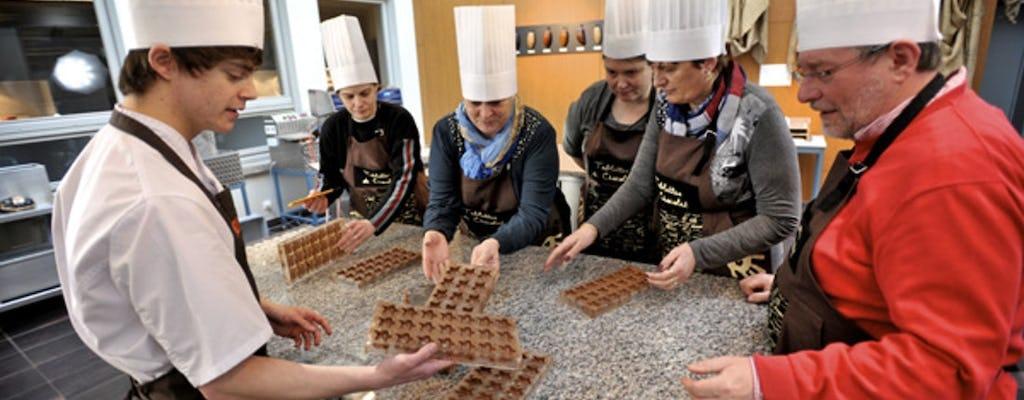 Oficina individual de chocolate e degustação em Bruges