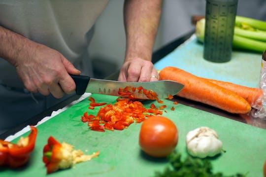 Rynek żywności i klasa gotowania w Paryżu