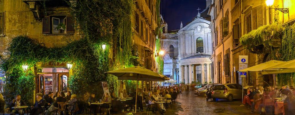 Visite nocturne de Rome avec dîner traditionnel