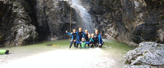 Canyoning no desfiladeiro de Susec de Bovec