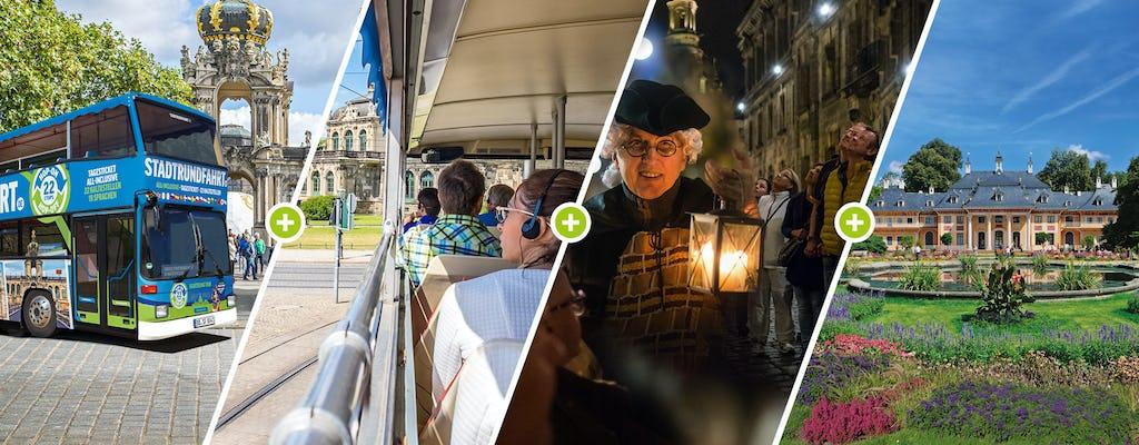 Große Hop-on hop-off Stadtrundfahrt in Dresden