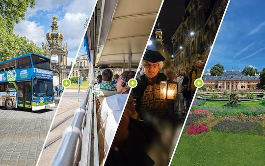 Big hop-on hop-off city tour in Dresden