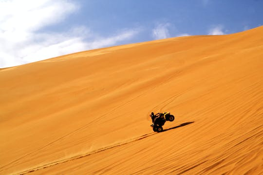 Half-day red dunes quad bike tour with camel ride, sandboarding and BBQ