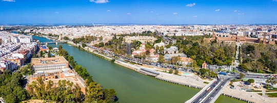 Seville by land, air and water