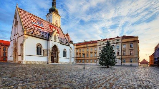 Tour privato a piedi nella parte alta e del centro di Zagabria