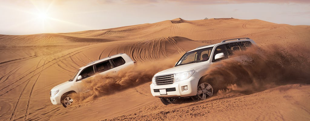 Doha safari with dune bashing, camel ride, and sandboarding