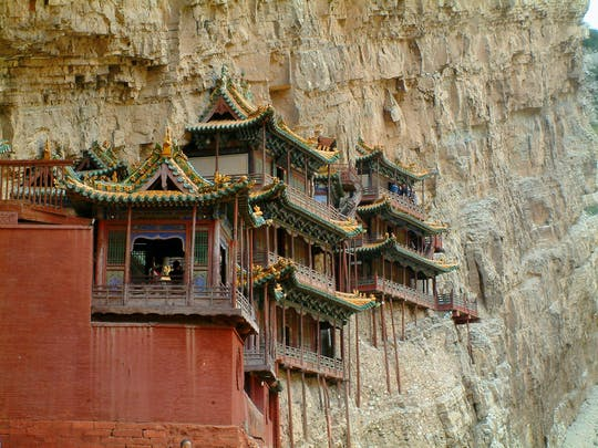 Excursão de dia inteiro ao Templo Suspenso e Grutas de Yungang