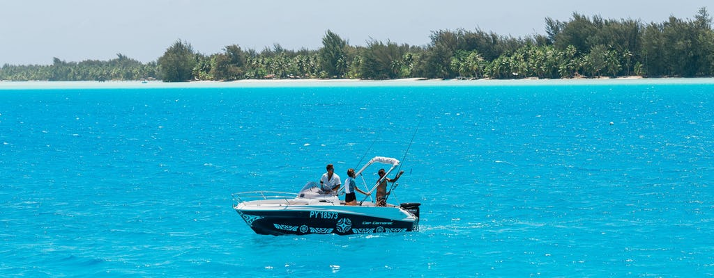 Pesca en la laguna privada de Bora Bora
