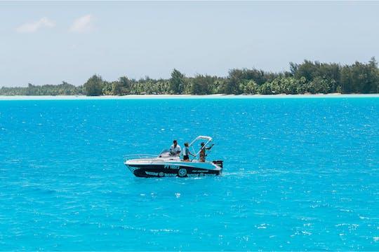 Bora Bora pesca em lagoa privada