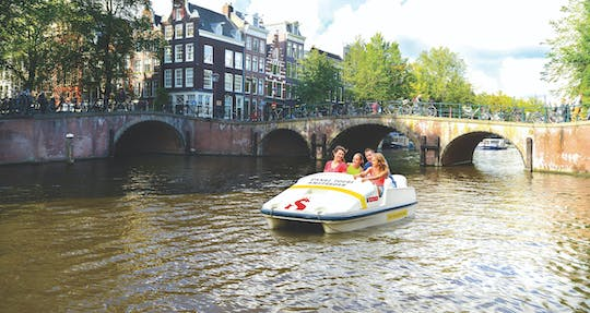 Pedal boat ride in Amsterdam