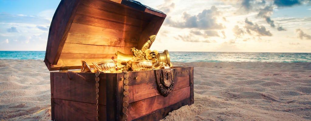 Búsqueda privada del tesoro para niños en la laguna de Bora Bora